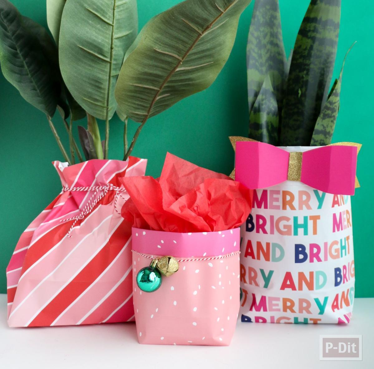 ถุงกระดาษ ห่อของขวัญ ต้นไม้เล็กๆ
