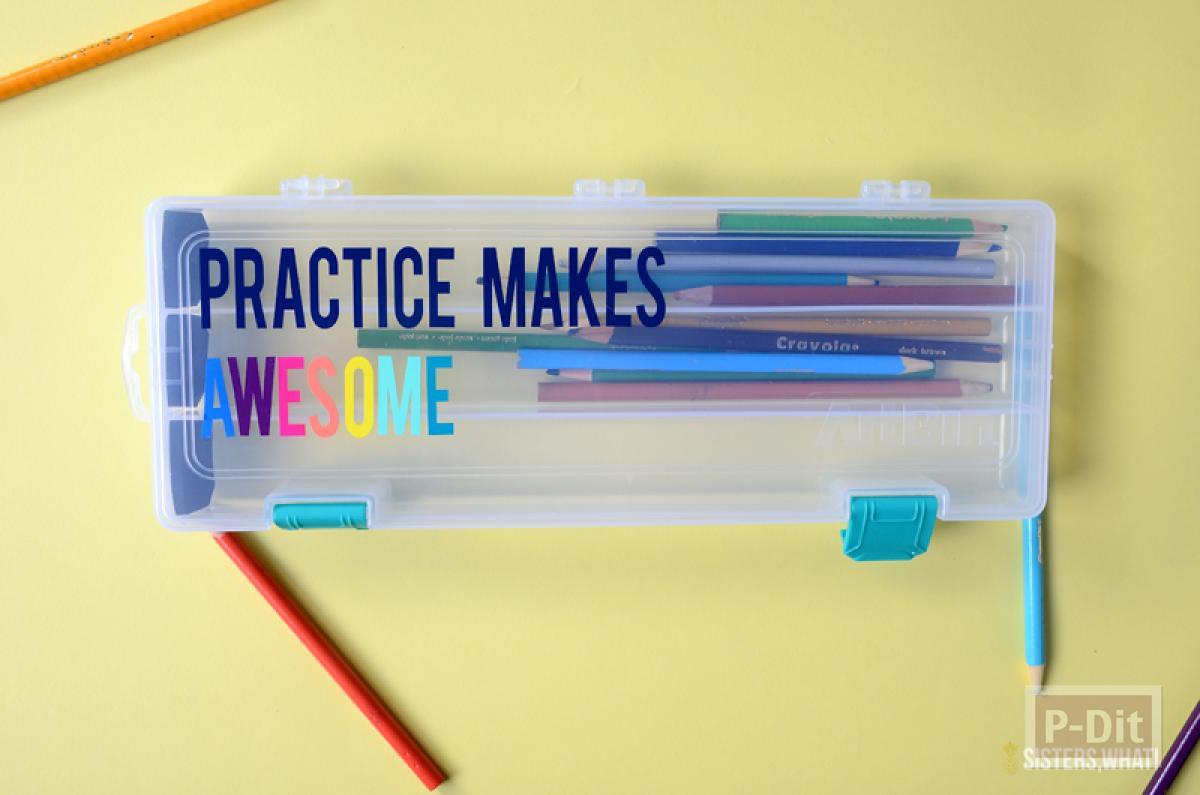 กล่องใส่ดินสอ ติดข้อความสวยๆ