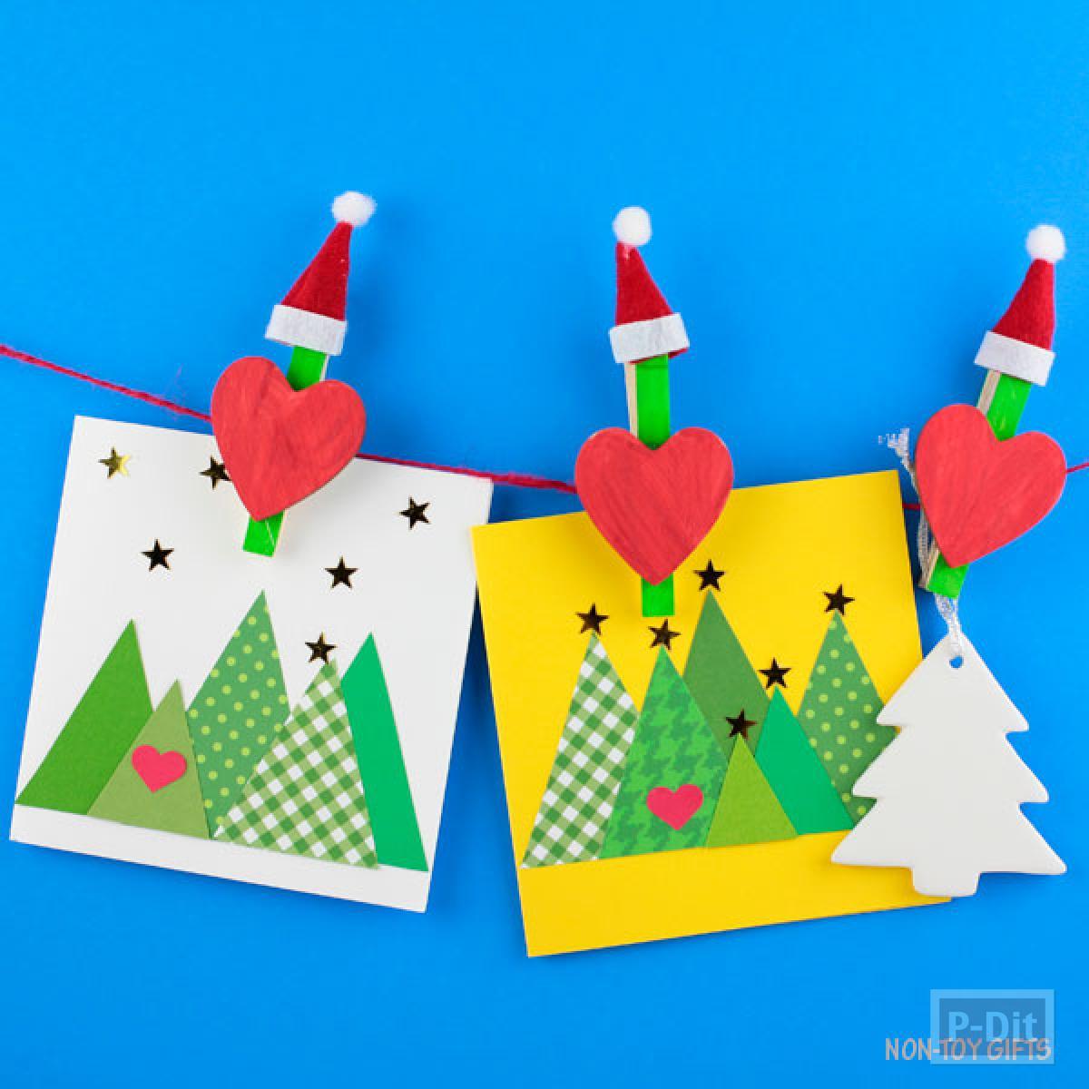 ตกแต่งไม้หนีบผ้า ประดับงานวันปีใหม่-คริสต์มาส