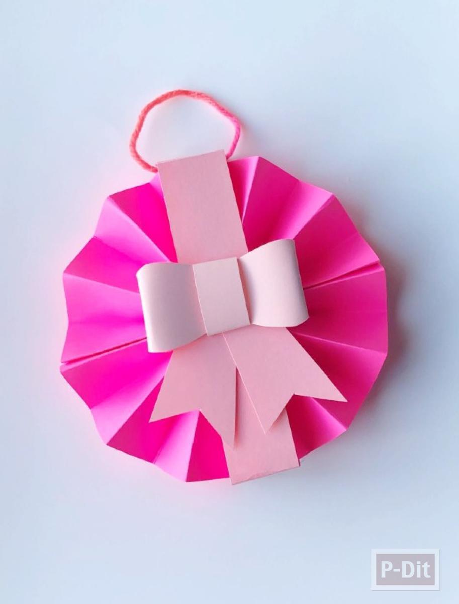 สอนทำโบว์กระดาษ ประดับกล่องของขวัญ แบบง่ายๆ